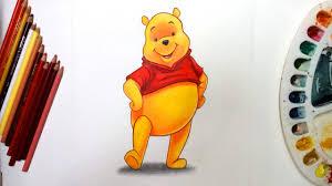 draw winnie pooh walt disney character