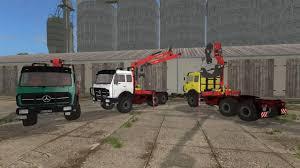 mercedes truck 6x6 fs17 mercedes ng 6x6 forrestry crane v2 0 farming simulator