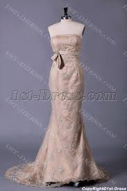 champagne lace sheath bridal gowns with corset back 1st dress com