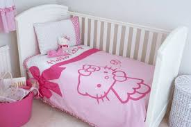 Hello Kitty Duvet Baby Bedroom Decor Hello Kitty Doll And Crib And Bedding Hello