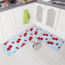 2 piece washable kitchen mats fruit pattern kitchen rugs and