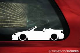 mitsubishi sticker design 2x low mg tf roadster 160 lowered car outline stickers