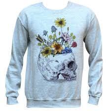 skull sweater skull with flowers sweater