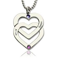 engraved heart necklace heart necklace engraved name sterling silver