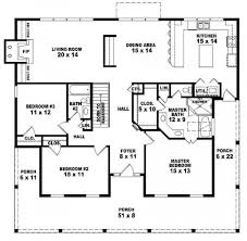 3 Bedroom 2 Bath 1 Story House Plans by Four Bedroom One Story House Plans Nrtradiant Com