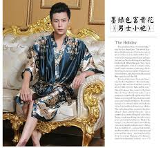 robe de chambre homme en soie faux soie hommes robe robe de chambre pour homme vêtements de nuit