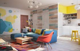 gorgeous home interior design with colorful wall decor brings
