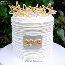 New Year S Cake Decorating Ideas by Happy New Year 2015 Cake Tutorial Blog My Cake