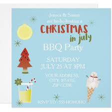christmas in july cards invitations greeting u0026 photo cards zazzle