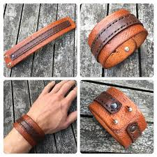 bracelet handmade leather images Handmade leather bracelet thecrazysmile png