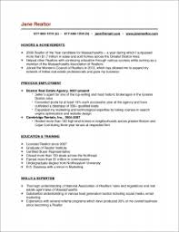 Resume Template For Real Estate Agents The Real Estate Agent Resume Examples U0026 Tips Placester