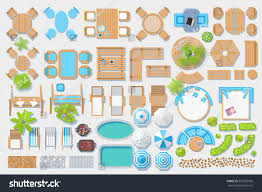 furniture clipart for floor plans icons set outdoor furniture patio items stock vector 529595956