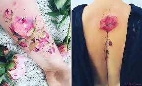 27 breathtaking watercolor flower tattoos stayglam