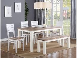 dining room table sets with bench landon 6pc dining set table 4 side chairs bench