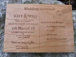 postcard wedding invitations wooden postcard wedding invitations personalised gifts