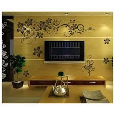 Home Decoration Wall Stickers Selling 130 80cm Classical Black Flower Wall Decals Zooyoo027s
