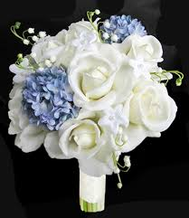 white hydrangea bouquet touch open white and blue hydrangeas bouquet
