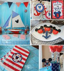 Nautical Decor For Baby Shower Kara U0027s Party Ideas Nautical Boat Mickey Mouse Boy Disney Birthday