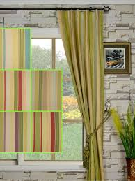 Striped Linen Curtains Stripe Ready Made Curtains Scifihits Com