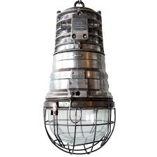 Caged Pendant Light Vintage German Eow Industrial Heavy Aluminum Hanging Caged Pendant Lig