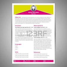 Flat Resume Design Blue Flat Resume And Cv Template Vector Illustration Royalty
