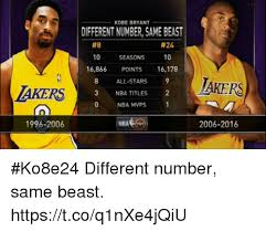 Kobe Bryant Memes - kobe bryant different number same beast 8 24 10 seasons 10 16866