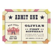 vintage carnival birthday invitations u0026 announcements zazzle