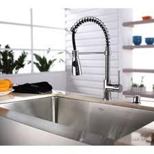 premium kitchen faucets kraus premium kitchen faucet chrome 1 handle pre rinse kitchen
