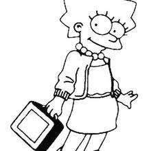 lisa simpson coloring pages hellokids