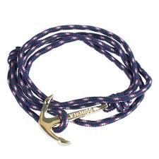 anchor wrap bracelet images Paracord wrap bracelet with gold anchor clasp navy blue jpg
