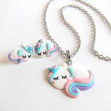 unicorn earrings unicorn earrings rainbow unicorn jewelry set polymer clay