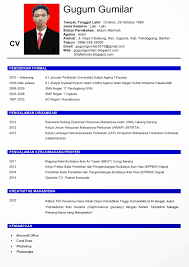 Sample Resume Yang Terbaik by Contoh Format Resume Yang Baik Labeled Reaction Cf