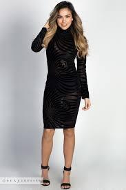 sleeved black dress antonia black sleeve turtleneck sheer burnout velvet dress