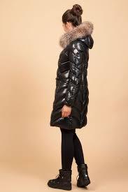 designer daunenjacke grüner shop moncler daunenmantel albizia in schwarz