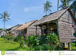 bamboo bungalows in rabbit island cambodia stock images image