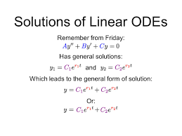solutions of second order linear odes the wronskian ppt download