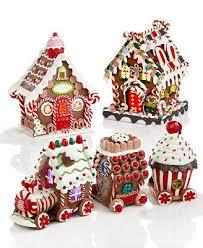 kurt adler lighted gingerbread house collection