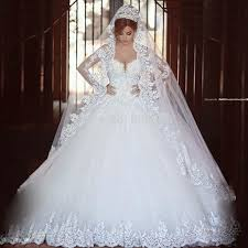 bridal wedding dresses sleeve lace a line v neck wedding dress vestido de noivas