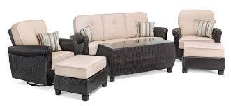 Swivel Rockers With Ottomans Breckenridge 6 Pc Patio Furniture Set Swivel Rockers Sofa