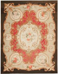 antique aubusson french rug 43641 detail large view by nazmiyal