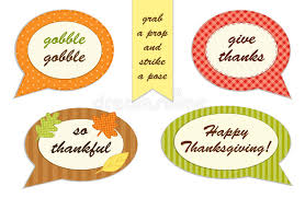 thanksgiving props set of thanksgiving speech photo booth props stock