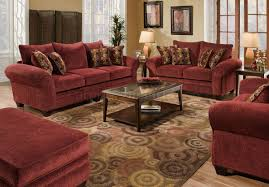 Living Room With Red Sofa by Furniture How To Decorate Your Endearing Living Room With