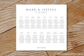 Wedding Seating Chart Template Wedding Seating Chart 11 Tables Templates Creative Market