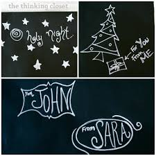 chalkboard wrapping paper diy wrapping paper tutorial the thinking closet