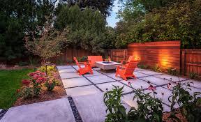 Urban Gardens Denver - modern back yard fire pit denver co design by the urban garden