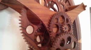 wooden oval clock wood movement handmade 8lbs weight clock youtube