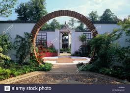 Circular Patios by Hampton Court Fs 1997 Design Claire Whitehouse Circular Brick Arch