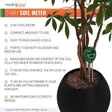 amazon com soil ph meter 3 in 1 soil test kit for moisture