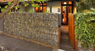 Garden Fence Ideas Design Gabion Fences And Walls Rock Fence Design Nz