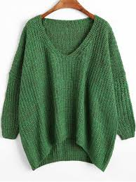 green sweaters chunky v neck oversized sweater green sweaters one size zaful